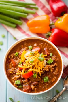 This Slow Cooker Southwestern Quinoa Chili is full of fiber, lean protein and hearty seasonings! A variety of beans, lean ground turkey and nutty quinoa make this an easy weeknight meal you'll want again and again.