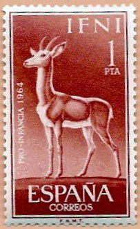 Sello Ifni de 1 peseta, Pro Infancia, 1964 - Portal Fuenterrebollo