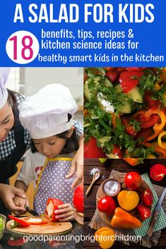 Check out this easy-peasy salad for you to make with your kids. 18 benefits, kitchen science activities, recipes, & tips…the perfect salad for healthy smart kids in the kitchen to whip up Summer Salad Recipes, Summer Salads, Healthy Summer, Healthy Kids, Healthy Cooking, Healthy Living, Kids Nutrition, Champion Nutrition, Salmon Nutrition