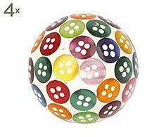 Set de 4 tiradores de cerámica Buttons