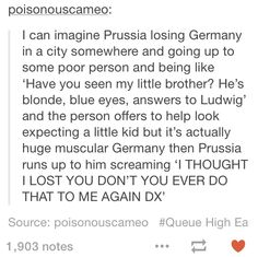 This is so true it's scary. Hetalia Germany & Prussia (It's like that scene in Ouran...)
