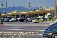 Tiny Naylor's Drive-In Restaurant, La Brea and Sunset Boulevards, 1949 ~ My favorite example of Googie architecture.