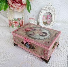 Купить «Дама» Шкатулка для украшений, рукоделия, мелочей, шебби-шик - винтаж, шебби шик, женственный