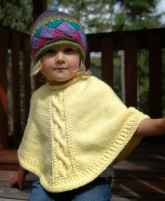 Sweet Tart Poncho pattern by Aimee Alexander Poncho Knitting Patterns, Knitted Poncho, Knitted Shawls, Knitting Designs, Knitting Projects, Crochet Patterns, Toddler Poncho, Girls Poncho, Knitting For Kids