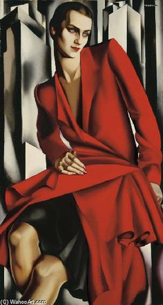 Tamara de Lempicka >> Portrait de Mrs. Bush  |  (Oil, artwork, reproduction, copy, painting).