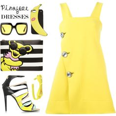 60-Second Style: Pinafores by andrea2andare on Polyvore featuring moda, Marni…