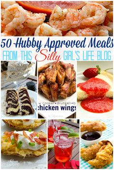 50 Hubby Approved Meals from http://ThisSillyGirlsLife.com