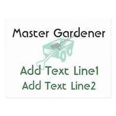 Professional Master Gardener Postcard - logo gifts art unique customize personalize