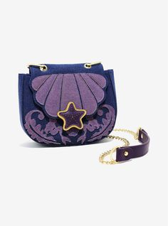 Loungefly Disney The Little Mermaid Ariel Denim Saddle Bag - BoxLunch Exclusive