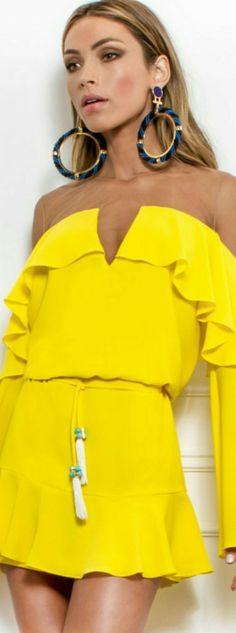 @roressclothes clothing ideas #women fashion yellow dress Skaziofıcial  2017: #UrbanClothesShorts