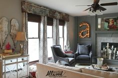 We made a repurposed cornice board from old rusty tin panels! in All Posts, Color trends, creative entrepreneur, decorating, DIY Projects, do it yourself, Faux finish, furniture, My Home, paint, repurpose, work from home, working mom on May 20, 2015