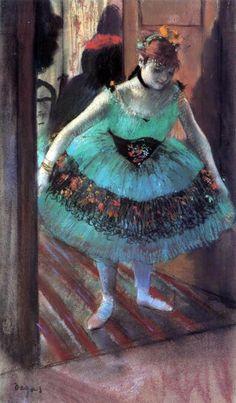 A Dancer Leaving Her Dressing Room by Edgar Degas…