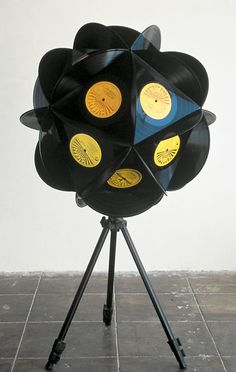 This would be cool to make. Record art.