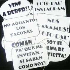 Carteles Habladores Para Fiestas Bridal Shower Games, Bridal Shower Decorations, Bridal Shower Invitations, Black Bridal Parties, Bridal Party Tables, Mexican Bridal Showers, Shower Banners, Holidays And Events, Party Time