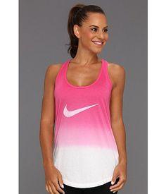 Nike Dip Dye Swoosh Loose Tank | Pink Force/White/Dark Grey Heather