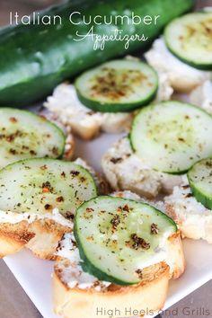 High Heels & Grills: Italian Cucumber Appetizers