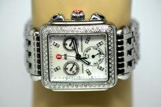 Michele Deco Ladies Chronograph MOP 0.66ctw Diamonds Watch MW06P01A1046 (D229) #Michele