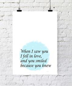Kunstdruck Poster Love von PapierMond auf DaWanda.com