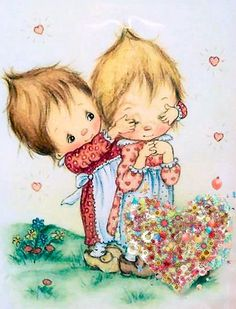I loved Betsy Clark. I still have a few things after all these years. Sarah Kay, Precious Moments, Decoupage, Hallmark Greeting Cards, Illustrations Vintage, Clark Art, Holly Hobbie, Tatty Teddy, Vintage Valentines