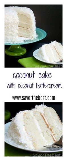 A moist white cake with a wonderful creamy, coconut flavored frosting which is smothered with shredded coconut.