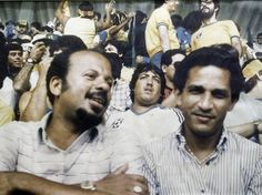 Winthorpe 'Jackie' Bell (left) and Dennis Ziadie watch a game from the stands during the World Cup finals in Mexico in 1986. - Contributed