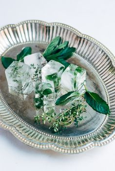 How-to: Fruit and herb ice cubes for summer sipping.