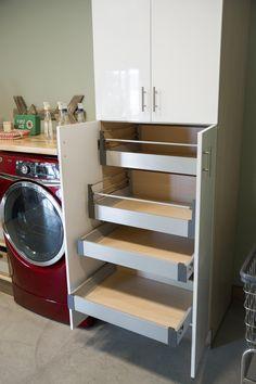 Rollout Storage in Blog Cabin's Mudroom