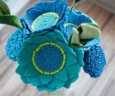"""Floral Bouquet - Home Decor - Mini Bouquet - """"Into the Blue"""""""
