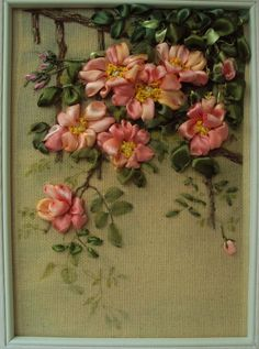 Briar Silk #ribbon #embroidery by SilkRibbonembroidery on Etsy, €80.00
