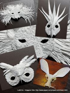 FORMA - Mascaras feita de papel