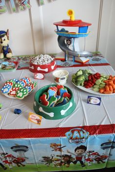 64 Trendy Ideas Birthday Party Food For Kids Boys Hot Dogs 3 Year Old Birthday Party Boy, Birthday Themes For Boys, Dog Birthday, Birthday Ideas, Paw Patrol Party Favors, Paw Patrol Party Decorations, Paw Patrol Birthday, Food Ideas, Party Ideas
