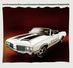 1970 Oldsmobile 442 Pace Car Shower Curtain