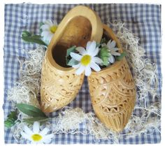 Wooden handmade shoes