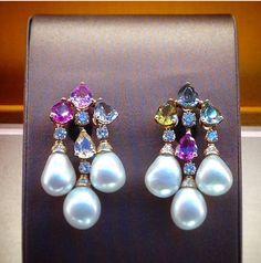 Bulgari colored sapphires , diamond and pearls