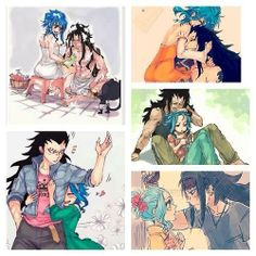 Gale Fairy Tail, Fairy Tail Natsu And Lucy, Fairy Tail Art, Fairy Tail Ships, Gajevy, Gruvia, Gajeel Et Levy, Fairy Tail Comics, Fariy Tail