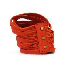 Leather Bracelet Poppy, 53€, now featured on Fab.