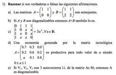 Ejercicio 1 del Examen de Matemática 2 (ADE, ULL). 8 Setiembre 2006. Tema: Matrices