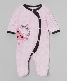 Look at this #zulilyfind! Pink 'My Cute Little Ladybug' Footie - Infant by Mon Cheri Baby #zulilyfinds
