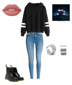 """""""I guess we are sharing the cop?"""" by gracevalek on Polyvore featuring Dr. Martens and Lime Crime"""