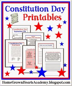 This is a graphic of Critical Kid Friendly Constitution Printable