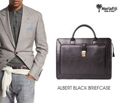 "Something for the  Guys Marla Fiji Albert black briefcase    great gift idea ...timeless elegance ..100 % genuine Italian leather... made in Italy with Love    Shop Now ---à  https://goo.gl/XwUeNo   ""FREE SHIPPING WITHIN AUSTRALIA""!! #Marlafiji #TopModel #Italian #leatherhandbags"