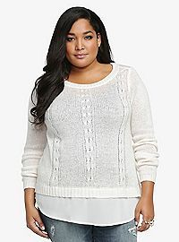 TORRID.COM - Double Layer Marilyn Sweater