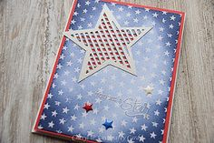 I am British/Canadian but  this months card kit called Seeing Stars by @simonsaysstamp had areal American feel to it. Unfortunately it has sold out already but you can still get the stamp and dies separately! #simonsaysstamp #seeingst | by Cheryl@linkcraftycards