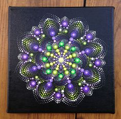Buy Purple and Green Dotart Mandala Painting on Canvas 20x20 cm, Acrylic painting by Mandala Art on Artfinder. Discover thousands of other original paintings, prints, sculptures and photography from independent artists.