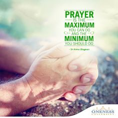 The #ThoughtOfTheDay today is about praying. By praying, we directly converse with God. It is the one act that never feels enough. May all our prayers be answered!