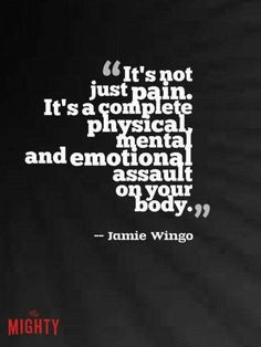 Coping with a chronic illness/pain!