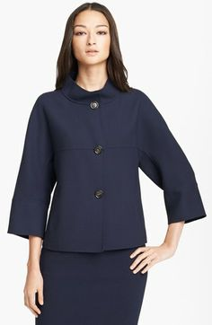 Armani Collezioni Gabardine Trapeze Jacket available at #Nordstrom