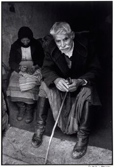 Blind man in doorway of his house, Crete, Greece, 1964 - Greek America Foundation; Photograph by Constantine Manos, Magnum Photographer Greece Photography, Still Photography, Street Photography, Costa, Greece Pictures, Old Greek, Crete Island, Greek History, Crete Greece