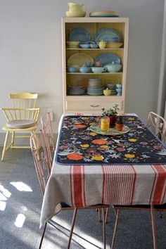 How to make your own oil cloth table cover. Great if you have little eaters around the house.