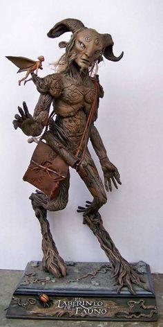 Pans Labyrinth Faun, Labyrinth Tattoo, Alien Creatures, Mythical Creatures, Dark Fantasy Art, Dark Art, Character Art, Character Design, Arte Sketchbook